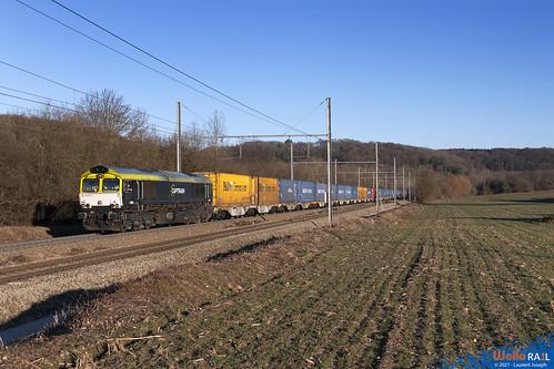 266 001 Railtraxx ( ex captrain) z44584 ligne 24 fouron saint martin 21 fevrier 2021 laurent joseph www wallorail be