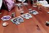 Enjoying Dinner and Playing Calico