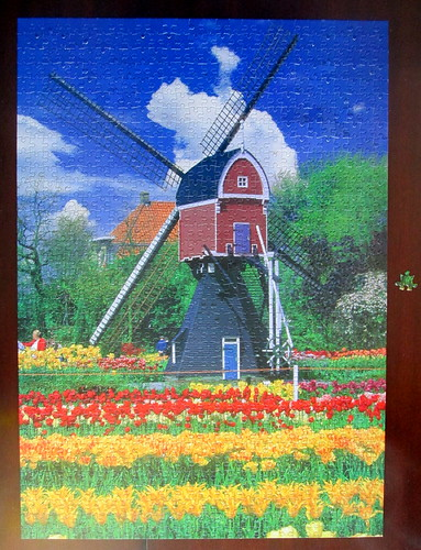 Completed Jigsaw of Dutch Scene