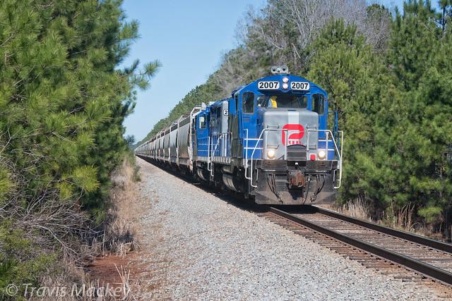 Palmetto Railways train PX211 at Charity Church RD
