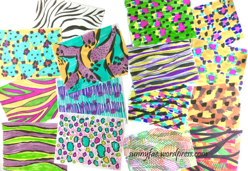 day 3 abstract animal prints