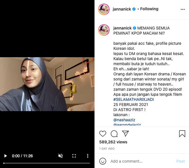 Peminat Geram Dengan Janna Nick, Hashtag #Jannanickisgoingtojailparty Trending Di Twitter