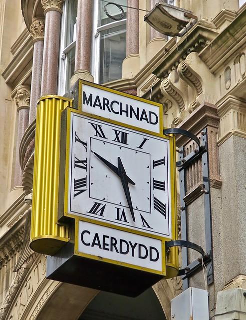 Cardiff Market Clock, Cardiff, Wales, UK