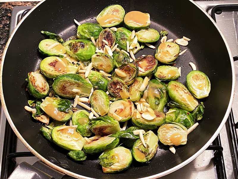 Chili miso Brussels sprouts