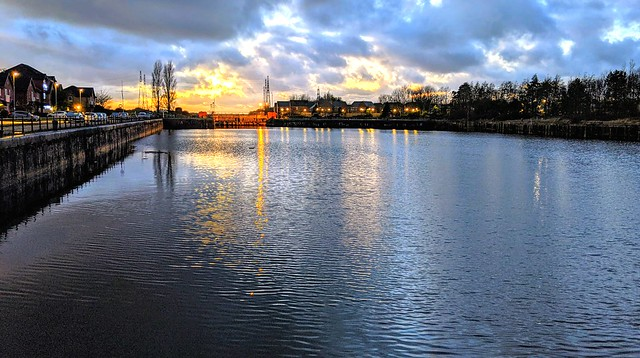 Lovely Sunset skies at Preston Docks