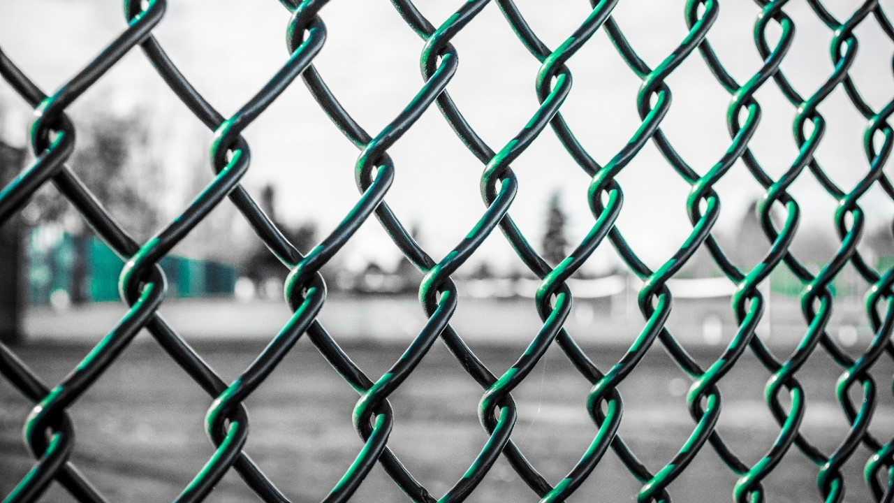 A chain link fence
