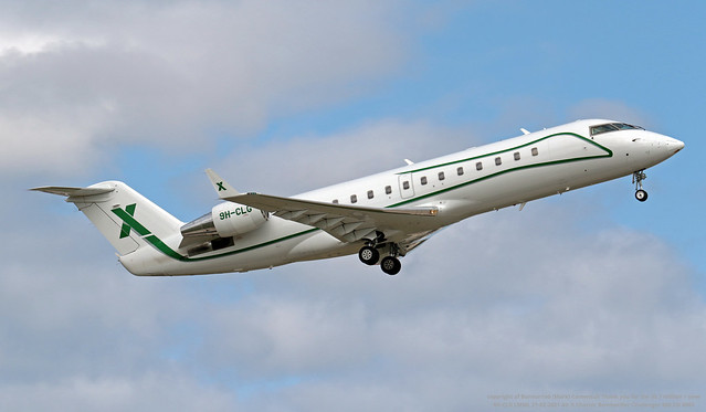 9H-CLG LMML 21-02-2021 Air X Charter Bombardier Challenger 850 CN 8063