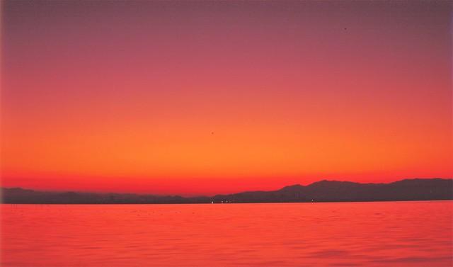 Sunrise, lake biwa , shiga pref.Japan