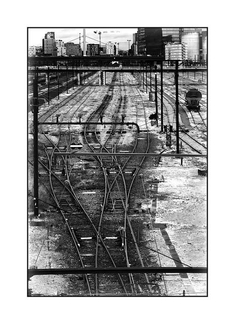 Railway in Ivry sur Seine