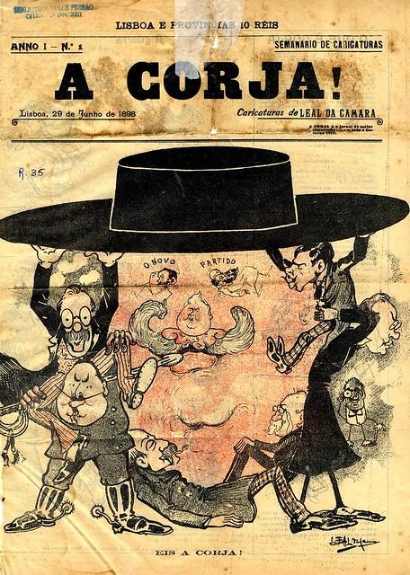 Capa de jornal antigo | old newspaper cover | 19 century | século 19 | Portugal 1890s