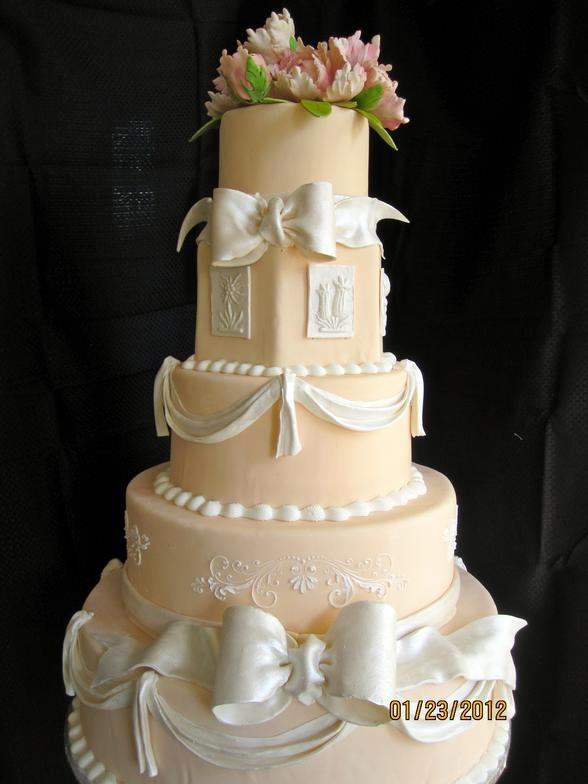 Cake by Chefrinsky.com/Birmingham's The Privileged Bride Exclusive Cake Designs