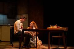 En la imagen se puede ver un momento de la obra de teatro 'La Coartada' ofrecida el viernes 19 de febrero a las 19 horas.  Fotografía cedida por el fotógrafo local Óscar Blanco Gutiérrez