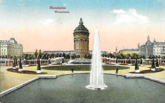 Wasserturm Mannheim ... Scans von historischen Ansichtskarten ... Brigitte Stolle