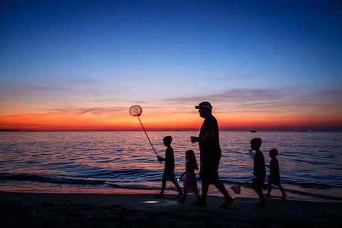 beach lynnhaven oceanfront sun sunset ocean virginiabeach virginia usa