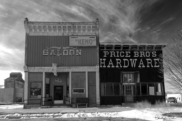 Saloon and hardware buildings.