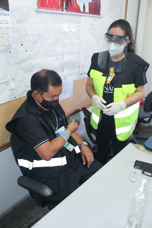 22.02.21 - Fiscais de transporte recebem orientações sobre saúde nos Terminais de Integração