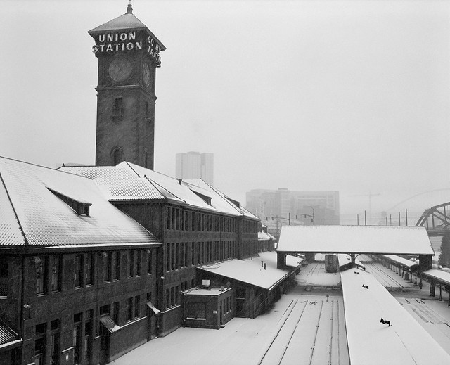 Union Station in the Snow, Portland