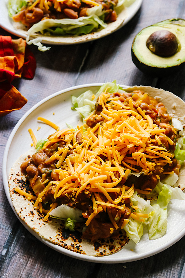 Loaded Vegetarian Picadillo Tacos
