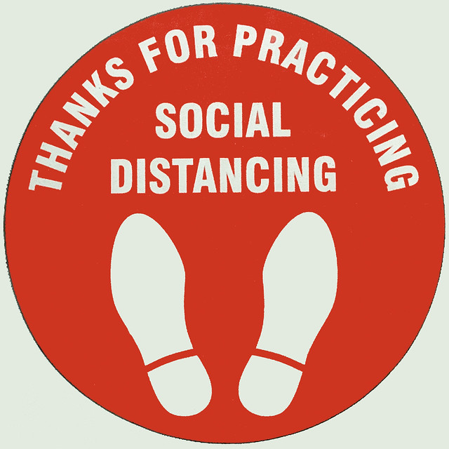 thanks for practicing social distancing