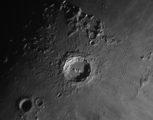 Copernicus crater 96km, Day 9 Moon