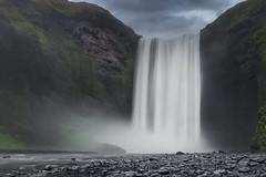 Skógafoss, majestic and memorable waterfall.