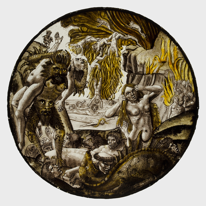 After Dieric Bouts - Roundel with Souls Tormented in Hell, 1500-10