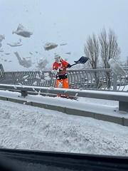Shoveling South Park Bridge