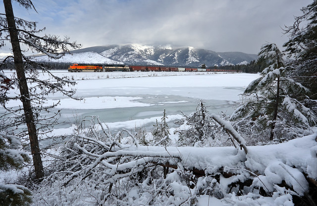 Winter along the Clark Fork