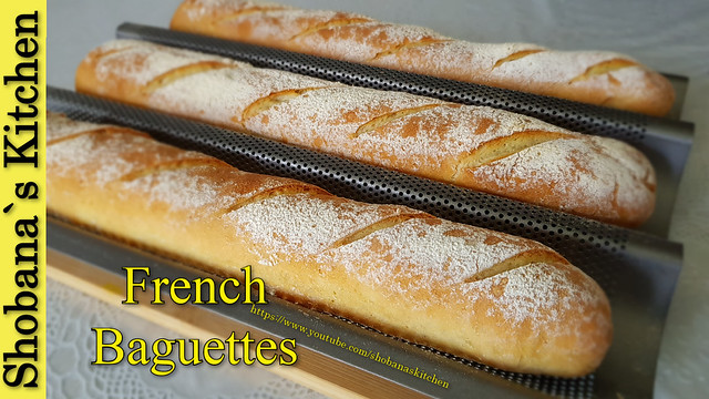 FRENCH BAGUETTES‼delicious homemade Bread - easy recipe
