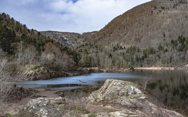La lac d'Alfeld dans son écrin