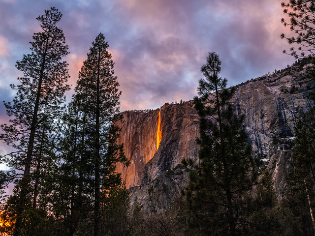 Epic Firefalls! Yosemite Firefall Yosemite National Park Horsetail Falls Yosemite Valley Fire Falls Sunset!  Fuji GFX100 California Fine Art Landscape Photography! Elliot McGucken Fine Art! FUJIFILM GF 45-100mm f/4 R LM OIS WR Lens