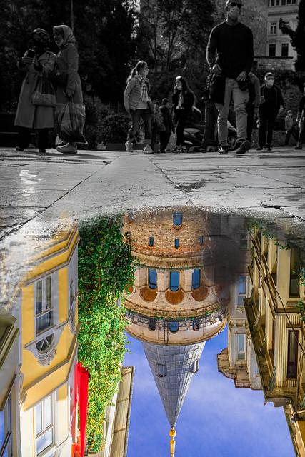 Galata Tower Double Exposure