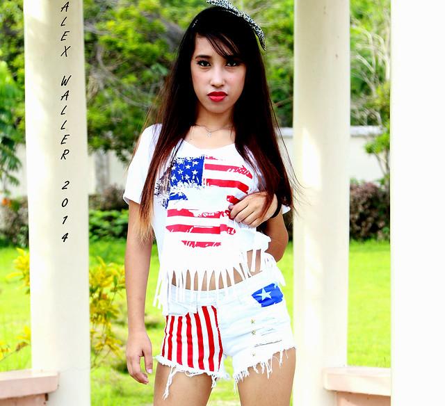 Miss Shine USA Flag Outfit
