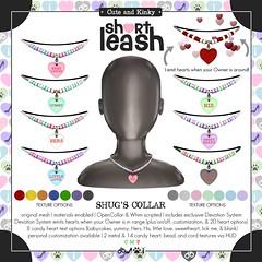 .:Short Leash:. Shug's Collar