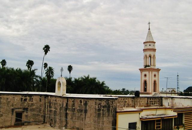 Church in downtown El Fuerte, Mexico