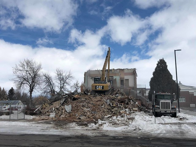 Demolition of Bear Lake County Courthouse