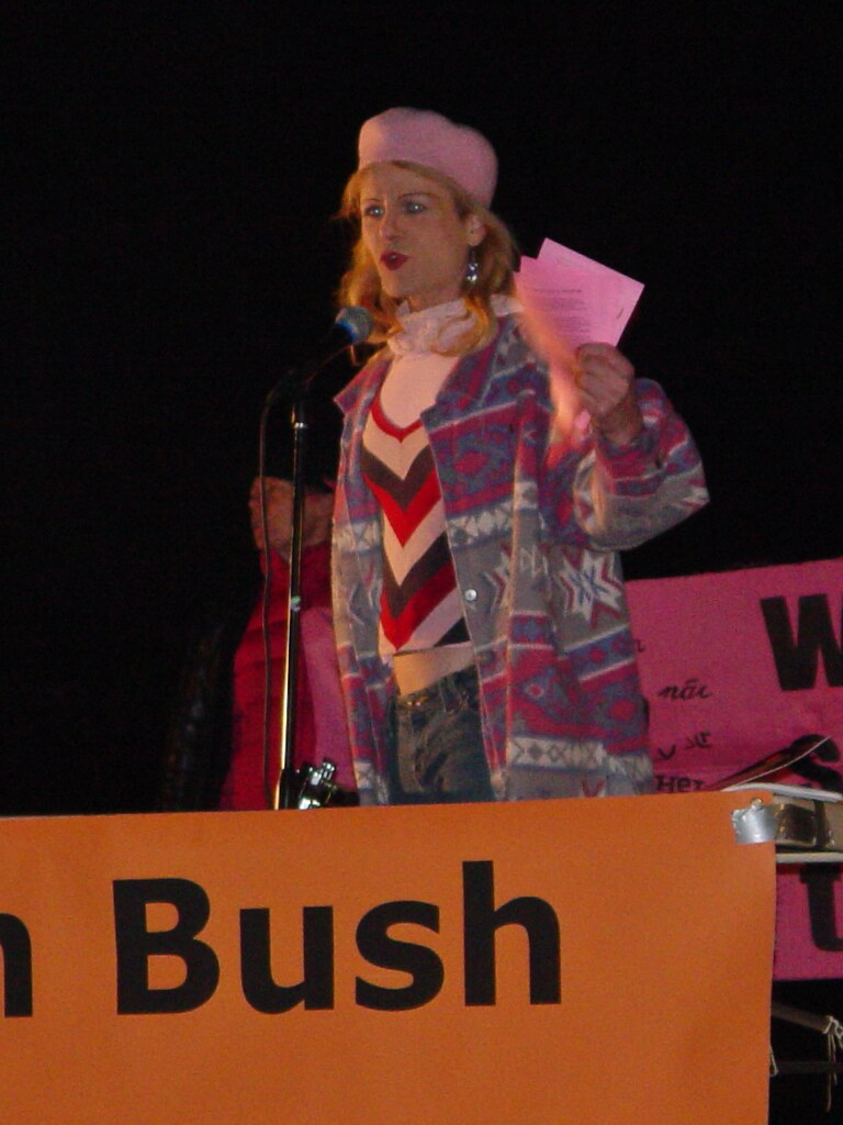 Midge Potts at State of the Union protest