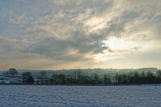 Un fantastique ciel hivernal  (in explore)