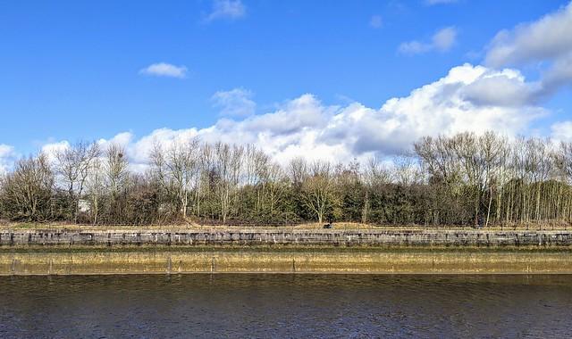 Riverside at Penwortham looking towards Preston