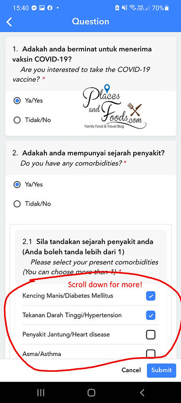mysejahtera covid registration details fill in confim
