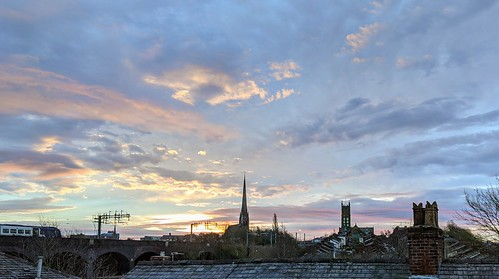 Morning sky over Preston | by Tony Worrall