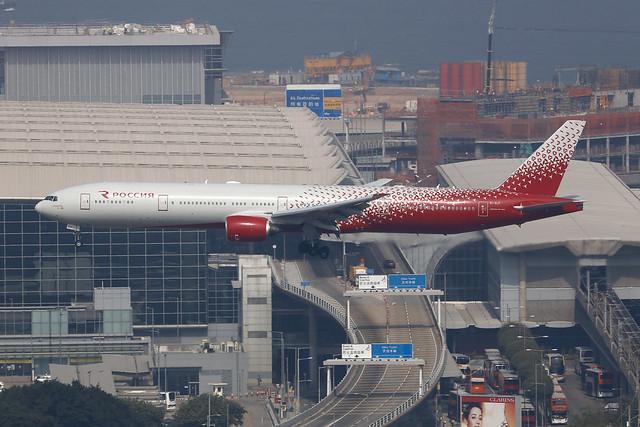 EI-XLP, Boeing 777-300, Rossiya Airlines, Hong Kong
