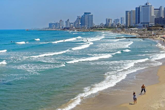 Tel Aviv beach / view from Homat HaYam Promenade