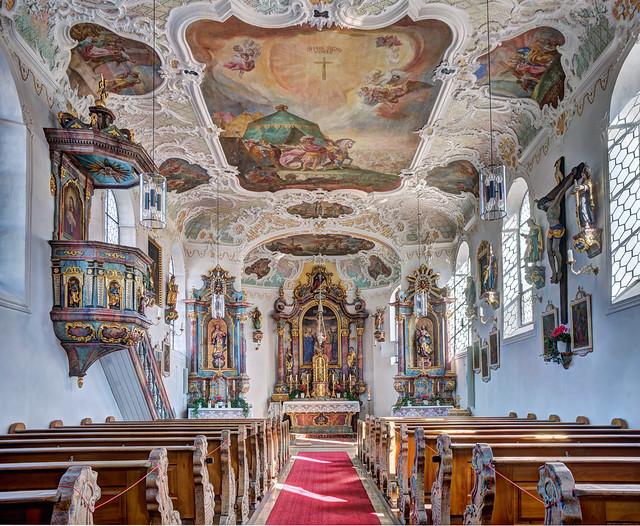 Hausen, Gemeinde Salgen - St. Bartholomäus und Hl. Kreuz