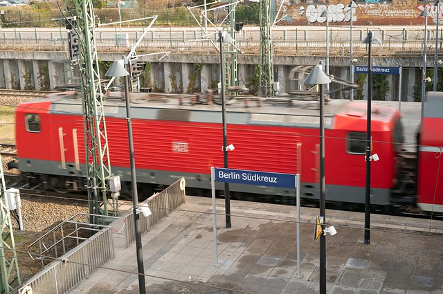 Berlin DB Regionalbahn Ausfahrt Südkreuz 23.2.2021