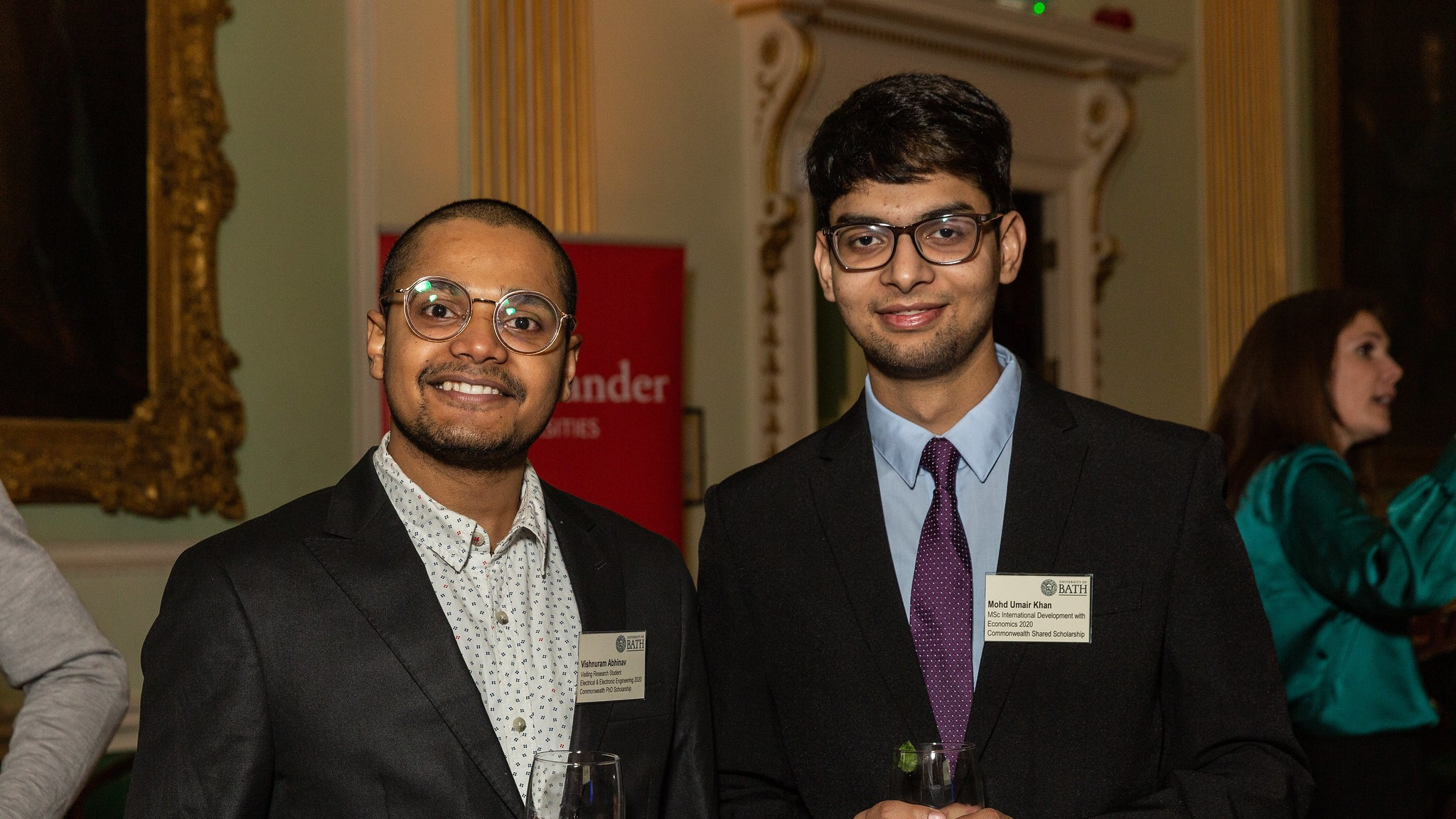 Two scholars at a Scholarship Reception