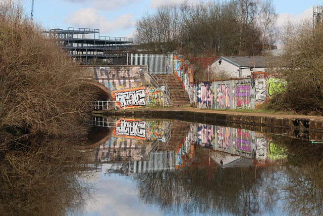 22nd February 2021. Street Art by the Bridgewater Canal at Cornbrook, Manchester.