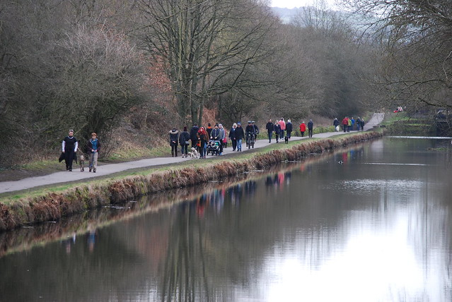 A busy towpath ..........