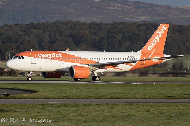 G-UZHT Airbus A320NEO Easyjet Glasgow Airport EGPF 21.10-19