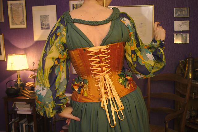 Photo de corset, de dos